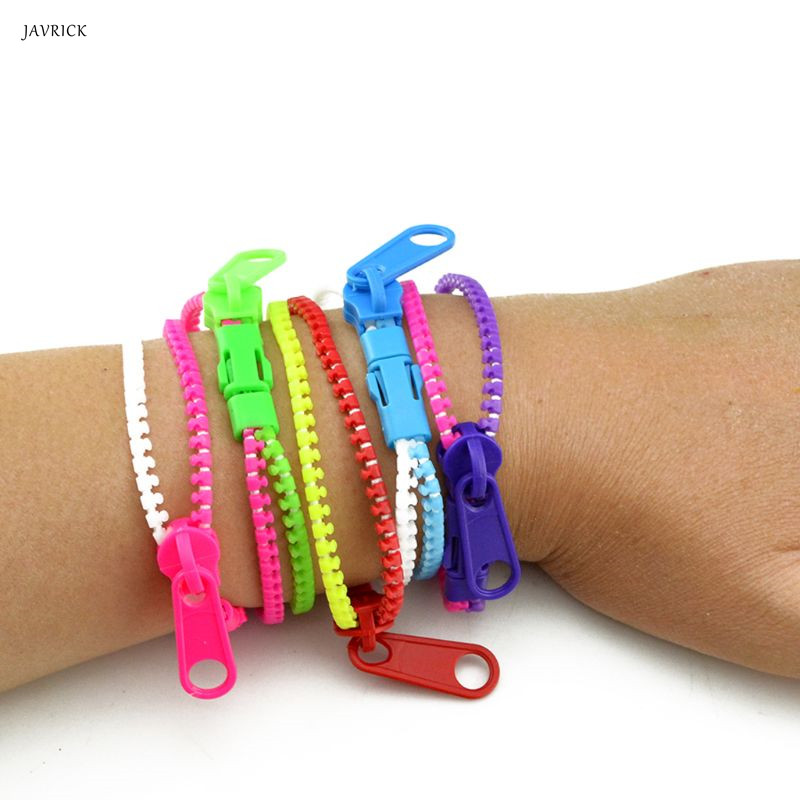 1pc Original Handmade Bracelets For Women Mixed Color Kids Friendship Fidget Zipper Sensory Toys Fashion Jewelry