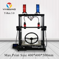 VIVEDINO 2018 3d printer Increase the function of laser printer New Model Outstanding Industrial Large 3D Printer Colorful with