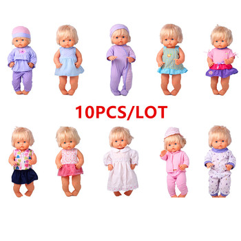 41cm Nenuco Doll Clothes Nenuco Ropa y su Hermanita 10PCS/lot Doll Accessories DIY Dress Up For 16 inch My Little Nenuco Doll