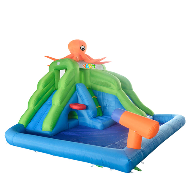 YARD Free Shipping New Arrival Pop Octopus Inflatable Water Slide For Kids Outdoor Hot selling