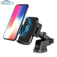VODOOL Wireless Car Phone Holder With Micro USB Charger 360 Degree Retractable Air Vent Mount For iPhoneX 8 Note8 S9 S8+