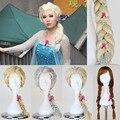 Парик Элизы снежной королевы, парик для хеллоуена, искуственные волосы, косплей, аниме, длинная коса