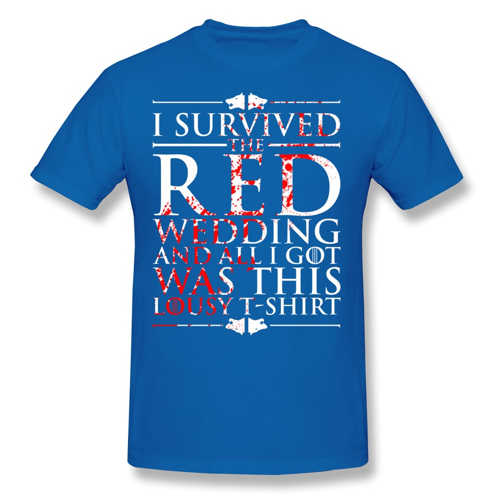Top Brand Short Sleeve Mens T Shirt I Survived The Red Wedding And All Got