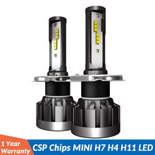2PCS h7 led Mini H4 12V H11 H1 H8 H9 fog light 6000K Bulb 10000LM Light Car Headlight lampada 9005 HB3 9006 HB4 lamp 12v 24v h4 h7 h8 h9 h11 9005 car headlight 5630 33leds 6000k 800lm bright white daytime running light drl dc 12v fog lamp bulb headlamp