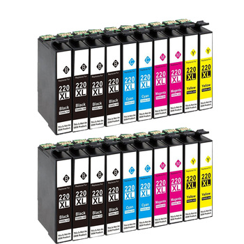 20 Pack Compatible Epson T220 XL Ink cartridge For Epson WorkForce WF 2650 WF-2630 WF-2660 WF-2750 WF-2760 XP-320 XP-420 XP-424 8x t220xl compatible ink cartridge for epson workforce wf 2630 wf2650 wf 2660 printer