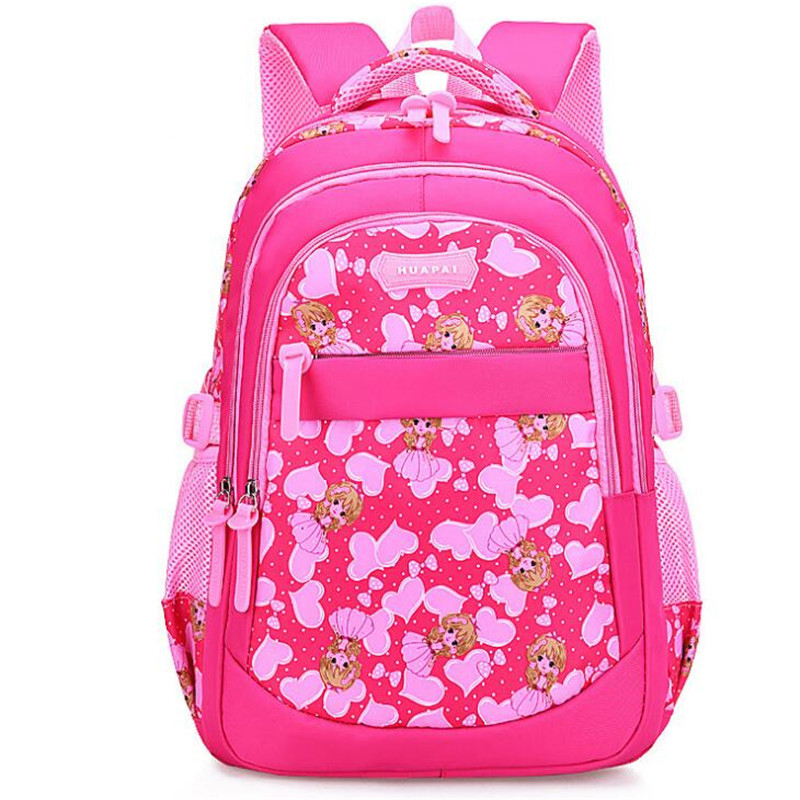1-3-6 Grade Broken Flowers School Bags Girl Schoolchild School Backpacks Waterproof Kids  Orthopedic Children Princess Schoolbag(China)