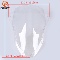 POSSBAY Clear Motorcycle Windshield Motocross Scooter Windscreen Protectors fit for Kawasaki ZX10R 2016 2017 Scooter Deflectors