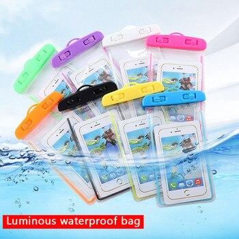 Luminous wodoodporna torba bateria telefon przenośny wygodny w użyciu lekki przydatny popularny do nurkowania w parku wodnym na plaży