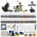 Newest Tattoo kit 2 Tattoo Machine Power Supply Needles 40 Inks D100GD