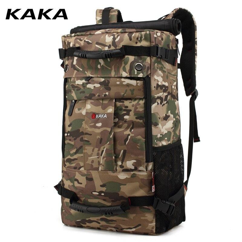 50L haute capacité qualité Oxford étanche sac à dos pour ordinateur portable multifonctionnel mochila sac d'école en plein air randonnée voyage bagages sac - 4
