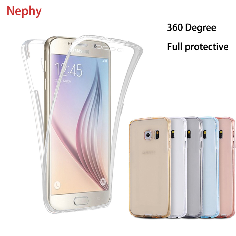 Clear Soft Phone Case For Samsung Galaxy A6 A8 Plus 2018 A3 A5 A7 J1 J3 J5 J7 Pro Neo Prime 2015 2016 2017 Silicone Full Cover nokia 8 new 2018