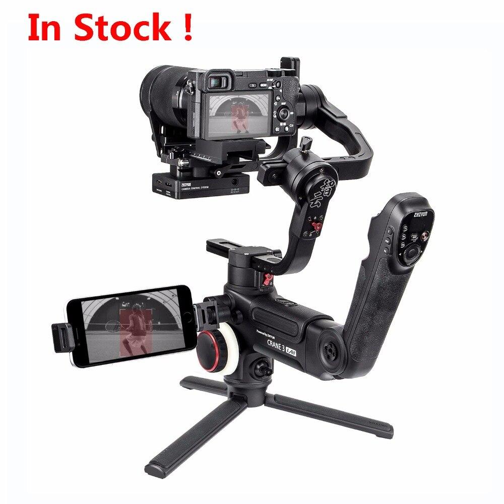 Zhiyun Grue 3 LABORATOIRE 3-axes De Poche stabilisateur de cardan pour Sony A9 A7M3 A7R3 A6500, Canon 5D IV, panasonic GH4 GH5, Nikon D850 DSLR
