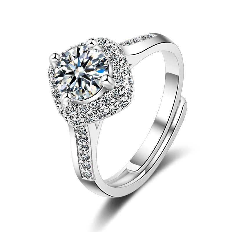 """Высокое качество кольца из стерлингового серебра 925 никогда не увядает Для женщин ослепительно кубического циркония кольцо """"Бабочка"""""""