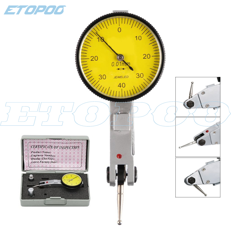0-0.8mm 0.01mm Level Gauge Scale Precision Metric Dovetail Rails Dial Test Indicator  Magnetic Correction Gauge Stand