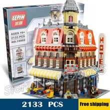 2133pcs New Make Create Cafe Corner Hall DIY Model Building Blocks 30012 unique elements Toys Compatible