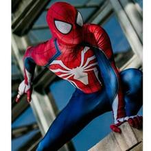 цены на Amazing SPIDERMAN PS4 SUIT  Spiderman Homecoming costumes Halloween zentai cosplay with 3D Print Spandex spiderman spandex suit  в интернет-магазинах