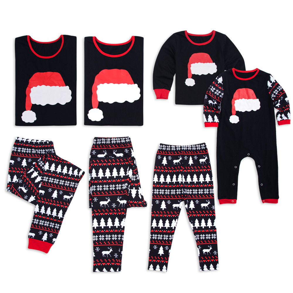 5831f7ca30 2018 Xmas Moose Fairy Christmas Family Pajamas Set Adult Kids Sleepwear  Nightwear Pjs Photgraphy Prop Party Clothing Black Color-in Matching Family  Outfits ...