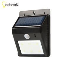 New 6 led Outdoor Solar Sensor LED Light  PIR Motion Sensor