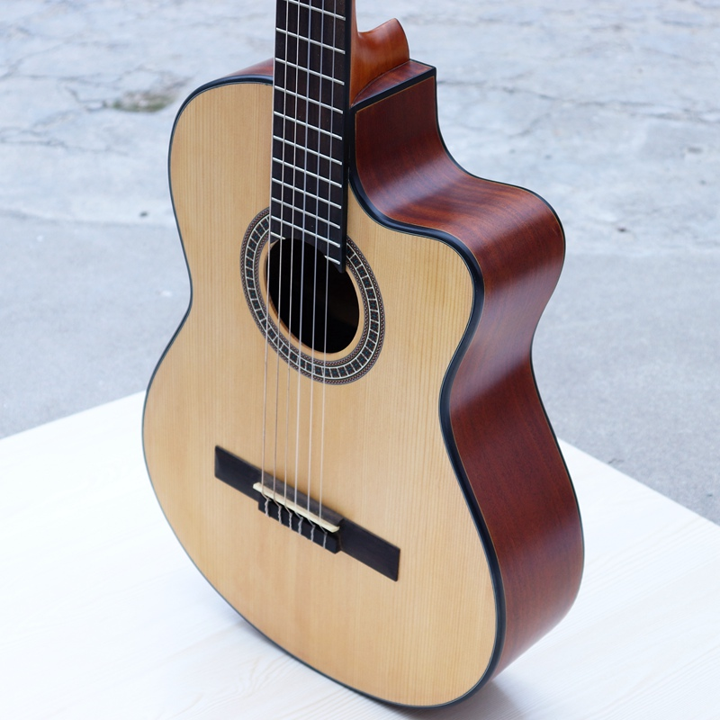 good quality cut way classic guitar solid wood