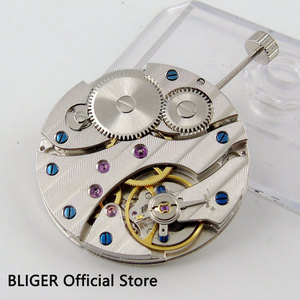 Image 1 - 17 Jewels classic vintage stainless steel 6497 ST3600 Mechanical hand winding mens watch movement M12