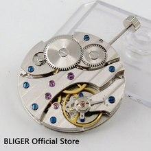 17 Jewels klasik vintage paslanmaz çelik 6497 ST3600 Mekanik el sarma erkek saati hareketi M12