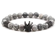 Натуральный камень браслет циркон микро-вставленная карта камень и браслет пусковая площадка Шарм женские рождественские украшения мода