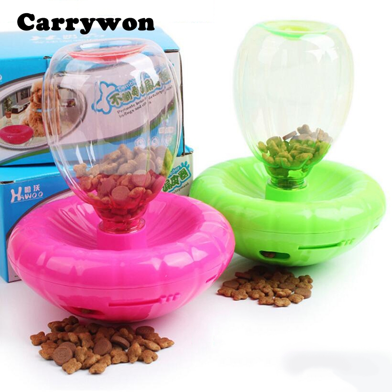 Carrywon Pets Dog Supplies Tumbler Toy with Feeders Funny Dogs Food Bowl IQ Training Game Dish Bottle