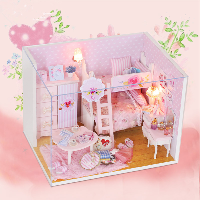 3d Diy Doll House Wooden Baby Casa De Madera Miniature Dollhouse Furniture Kit Toys For Children Birthday Gifts 3d Puzzle Buy Now