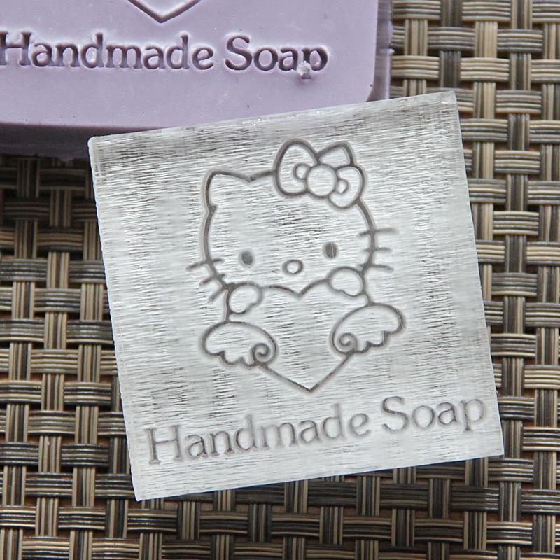 ᗑ】2018 envío gratis natural hecho a mano de acrílico jabón sello ...