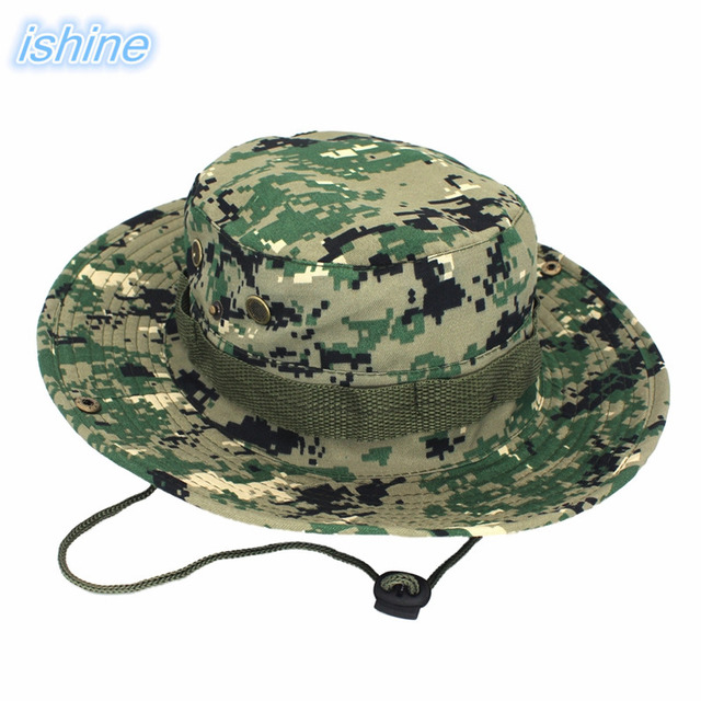 320f36a66da Outdoor Anti-UV Camouflage Bucket Hat Men Women Unisex Summer Sun  Protection Sun Hats For Hunting Fishing Hiking Mountaineering