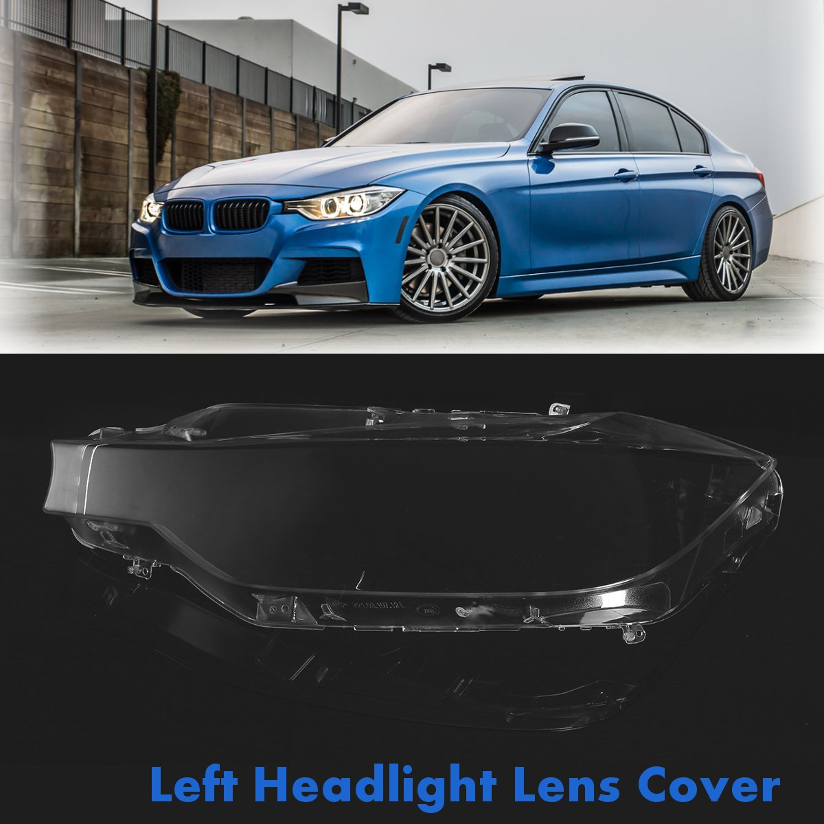 Front Left Car Headlight Headlamp Lens Cover Clear Lenses For BMW F30 F31 For 3 Series Sedan Touring 2013-2016 2pcs polycarbonate headlamp headlight clear lens replacement covers case shell only xenon for bmw 3 e90 sedan e91 touring