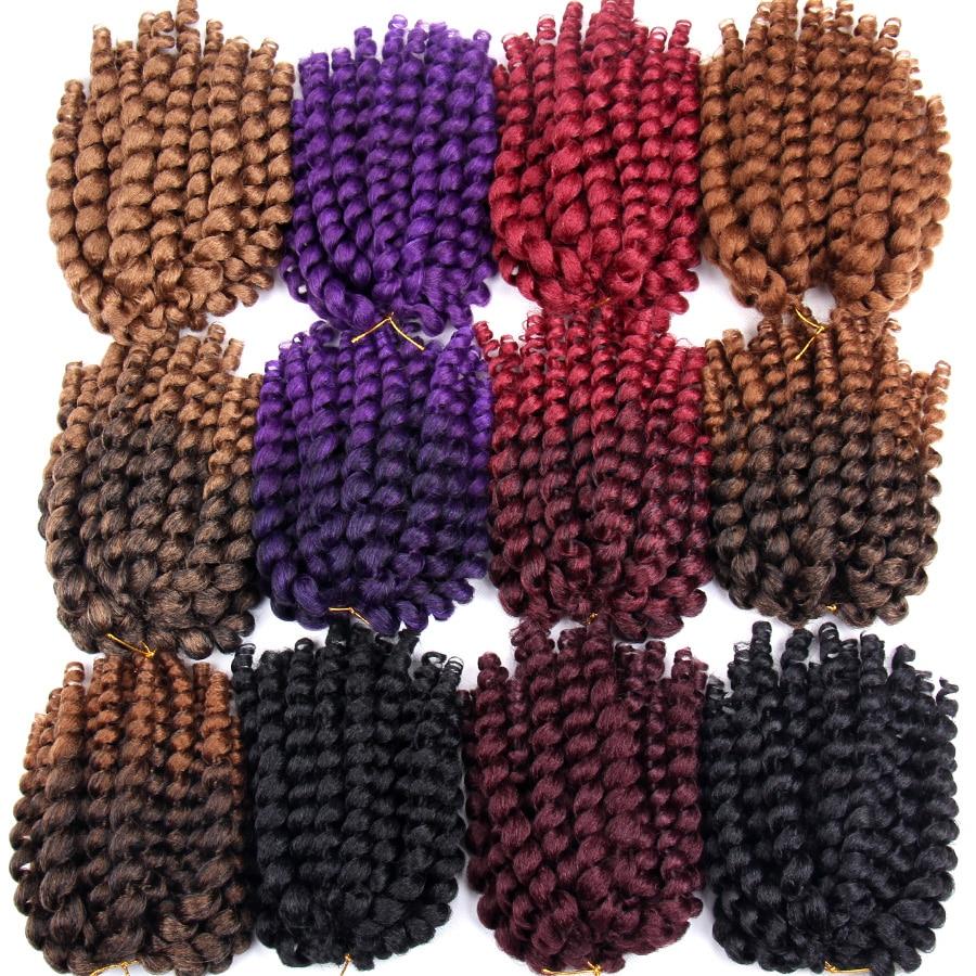 FALEMEI 10inch 2X jamaican studs twist hair tresse crochet flätor - Syntetiskt hår