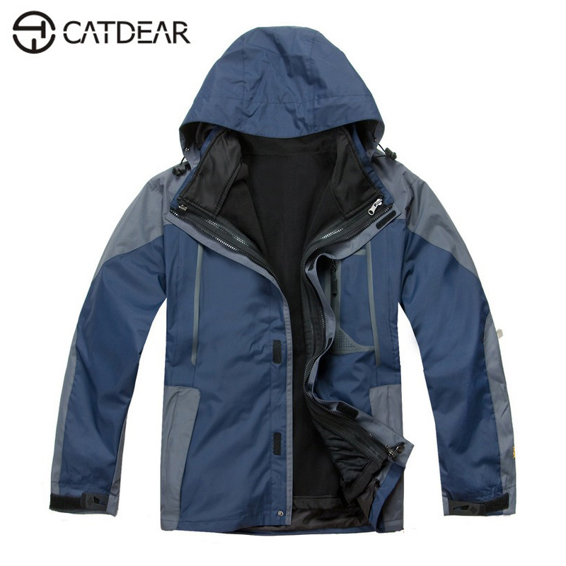 Men clothing outdoor Waterproof windproof Mountain climbing jacket Camping & Hiking jacket fleece 3 in 1 keep warm jacket  blog flashlight outdoor 5led pocket strong waterproof 8 hours to illuminate mountain climbing camping p004