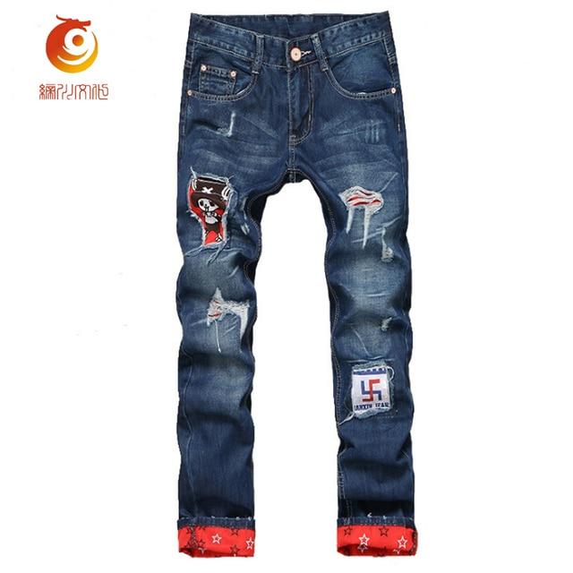 d1e404bc7f61 2017 zerkratzt Robin Jeans Herren Ripped Biker Jeans 100% Baumwolle  Distressed Loch Denim Hip Hop