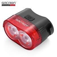 Gaciron W09 60LM USB Rechargeable Waterproof 2 LED Bike Tail Light MTB Safety Warning Smart Rear