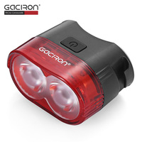 Gaciron W09 60LM USB Rechargeable Waterproof 2 LED Bike Tail Light MTB Safety Warning Smart Rear