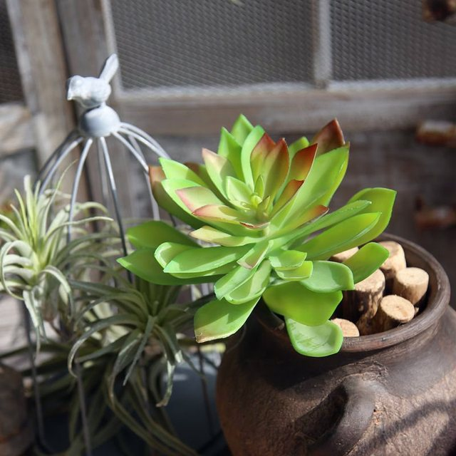 1pc 4colours Artifical Succulent Plant Flower Home Office Decor Gift Artificial Succulents Decorations For