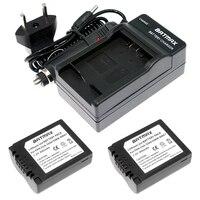 2 Stücke DMW-BMA7 CGA CGR S006 S006E S006GK Li-Ion Wiederaufladbare Kamera Akku Ladegerät für Panasonic Lumix DMC-FZ7 FZ8 FZ18 FZ28, 30