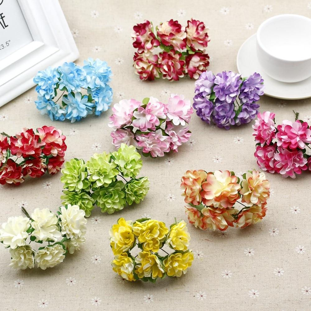 Cheap 12pcslot Paper Artificial Carnation Flower Bouquet For