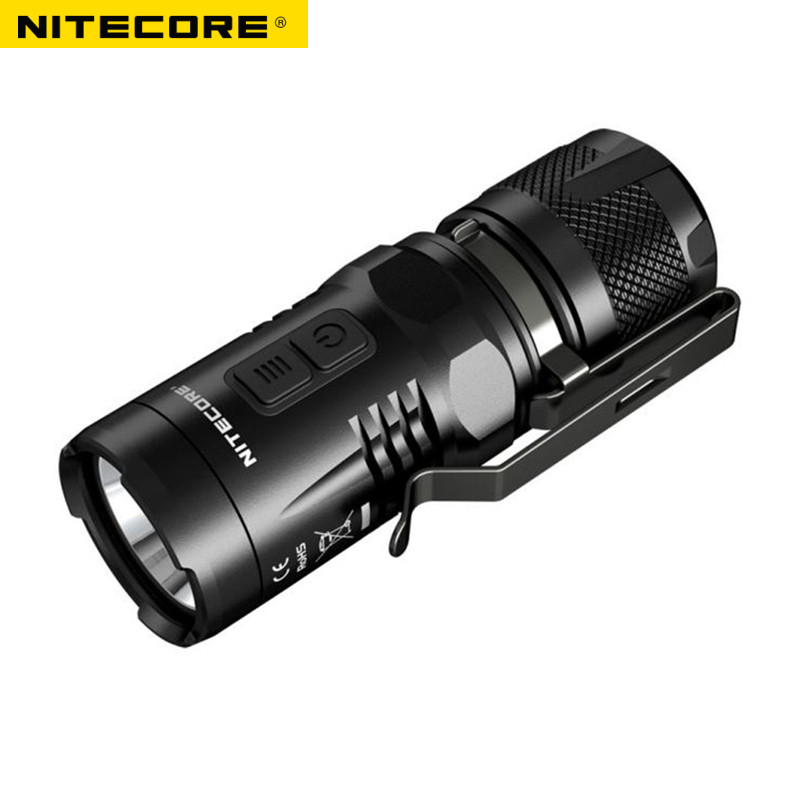 Mini torch NITECORE EC11 CREE XM-L2 (U2) LED max. 900 lumens beam distance up to 190 meters waterproof small size flashlight nitecore mh20 with 3200mah battery 1000 lumens cree xm l2 u2 led rechargeable mini flashlight waterproof led torch free shipping