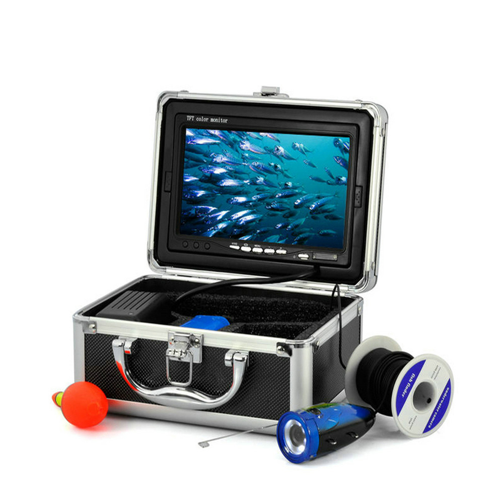 Professional 15M 12-LED Lights 1000tvl Underwater Fish Finder Underwater Fishing Video Camera Equitment with 7 ennio sy7000 15m 12 led lights 900tvl underwater fishing video camera