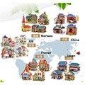 3 unids/lote Niños Rompecabezas 3D Rompecabezas De Madera de Construcción de Viviendas Chalets De Madera Juguetes Educativos Para niños Juguetes de Regalo de Cumpleaños de BRICOLAJE juguete