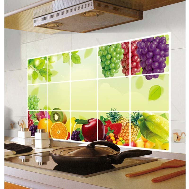 Kitchen Wall Sticker Decal Kitchenware Wall Tile Stickers for ...