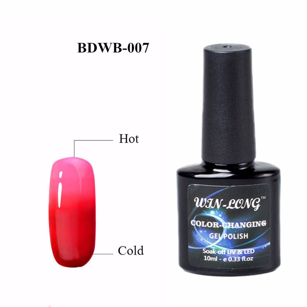 10ml Grey Color Change Gel UV Nail Polish Thermo Nail Gel Polish Temperature Change Color UV Gel Nail Lacquer