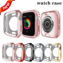 TPU Watch case for apple watch screen protector 44mm&for apple watch cover 42mm Bumper for iwatch 4 Cover 40mm series 3/2/1 38mm watch face protector case ultra thin full screen protector cover pc case for apple watch series 1 2 38mm