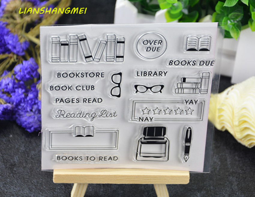 Books / ink Transparent Clear Silicone Stamp/Seal for DIY scrapbooking/photo album Decorative clear stamp sheets lovely elements transparent clear silicone stamp seal for diy scrapbooking photo album decorative clear stamp sheets