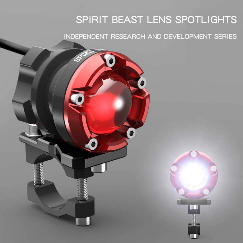 SPIRIT BEAST Led spotlight Motorcycle Decorative lighting headlight 48V headlamps Fog Super bright auxiliary lights Lamp Flasher