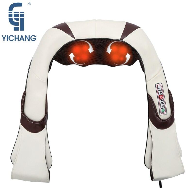 Beheizte neck massager beste neck massage maschine elektrische professionelle schulter zurück körper massagen therapie auto hause