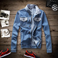 Новая коллекция весна мужская Джинсовая Куртка супермен куртка мужская куртки Джинсовые Куртки Плюс Размер М-5XL, JJ6