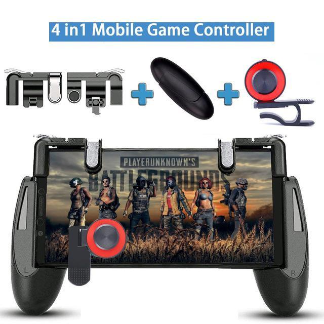 PUBG Mobile Controller สำหรับ iPhone Android โทรศัพท์เกมเกมมือถือ Gamepad จอยสติ๊ก L1 R1 ทริกเกอร์ L1RI ปุ่ม